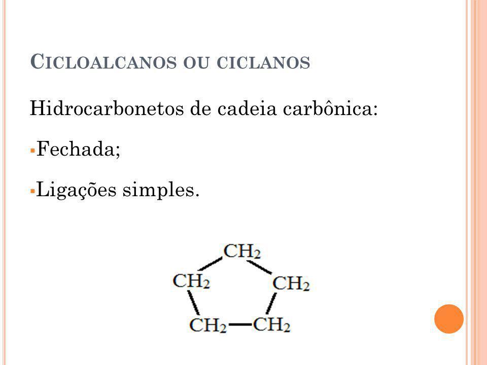 Cicloalcanos ou ciclanos
