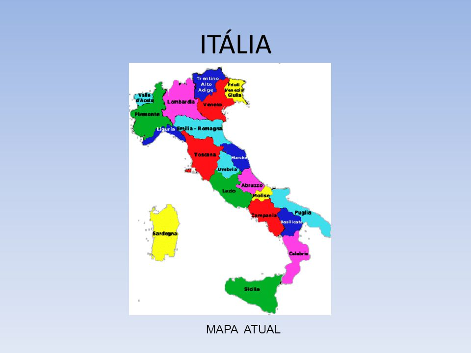 ITÁLIA MAPA ATUAL