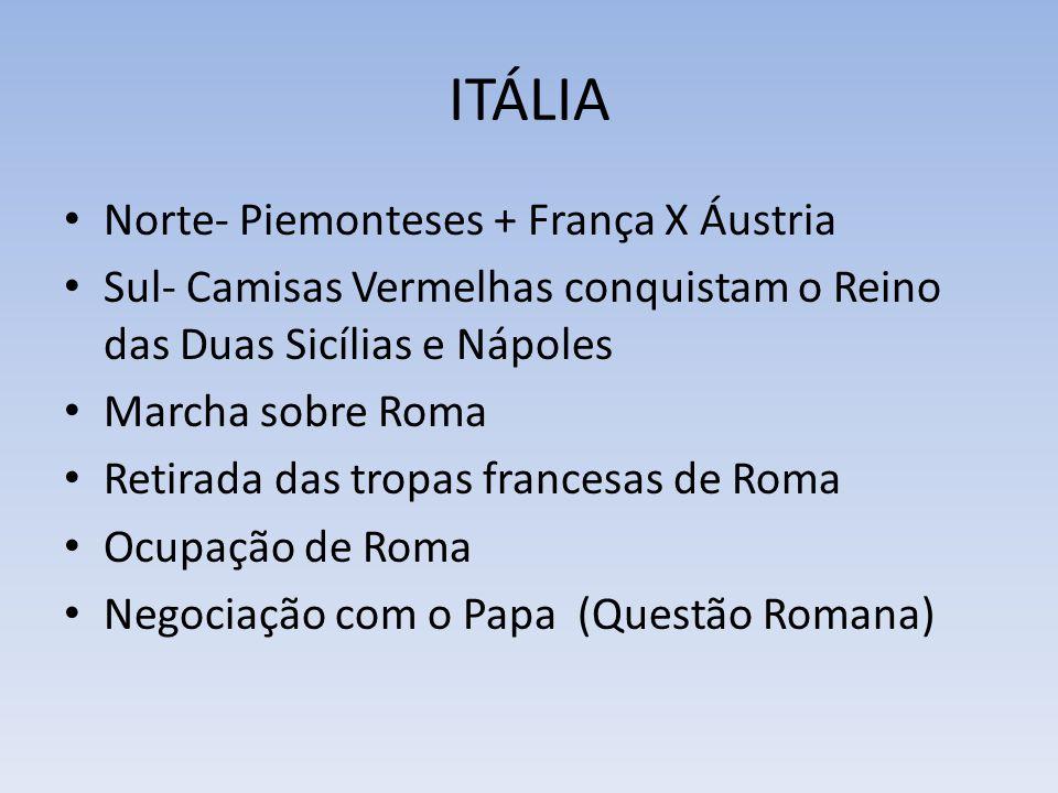 ITÁLIA Norte- Piemonteses + França X Áustria