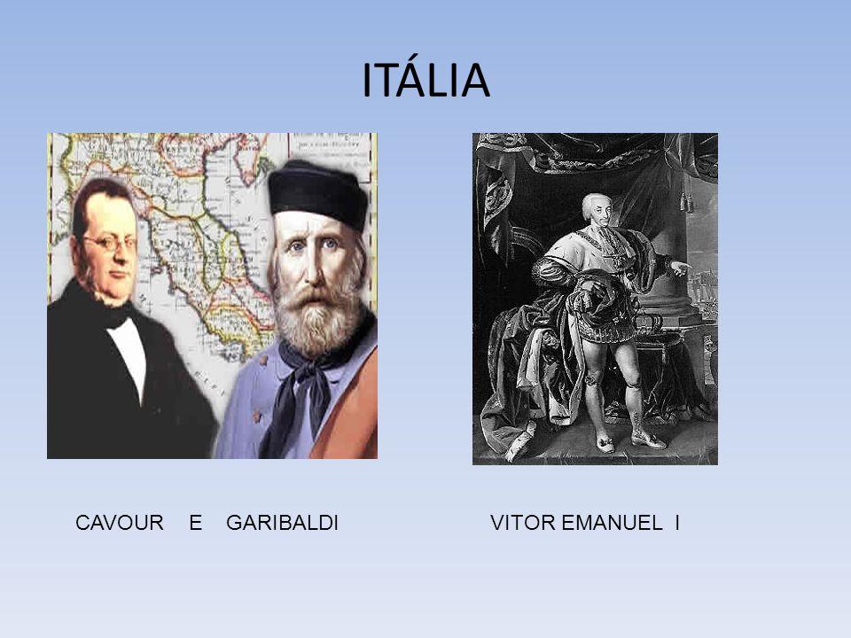 ITÁLIA CAVOUR E GARIBALDI VITOR EMANUEL I