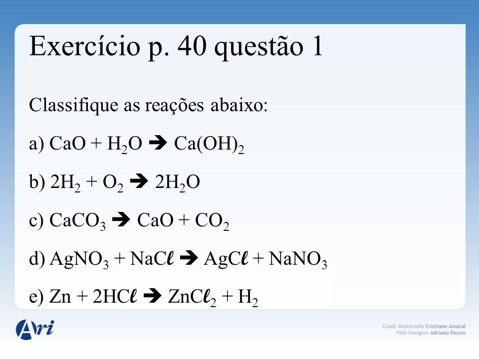 Exercício p. 40 questão 1