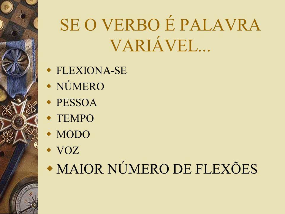 SE O VERBO É PALAVRA VARIÁVEL...