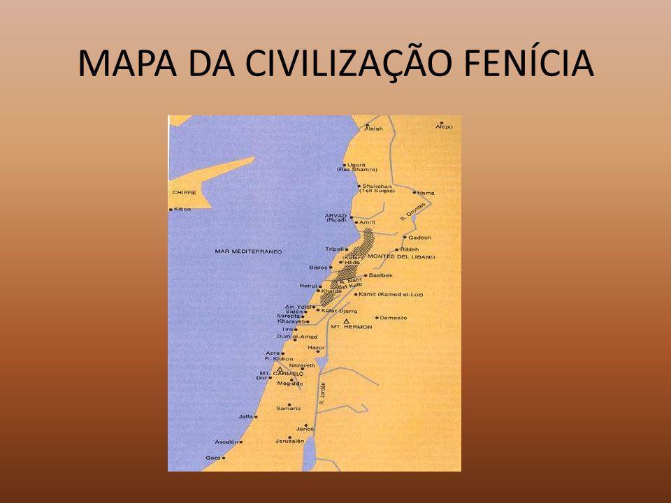 MAPA DA CIVILIZAÇÃO FENÍCIA