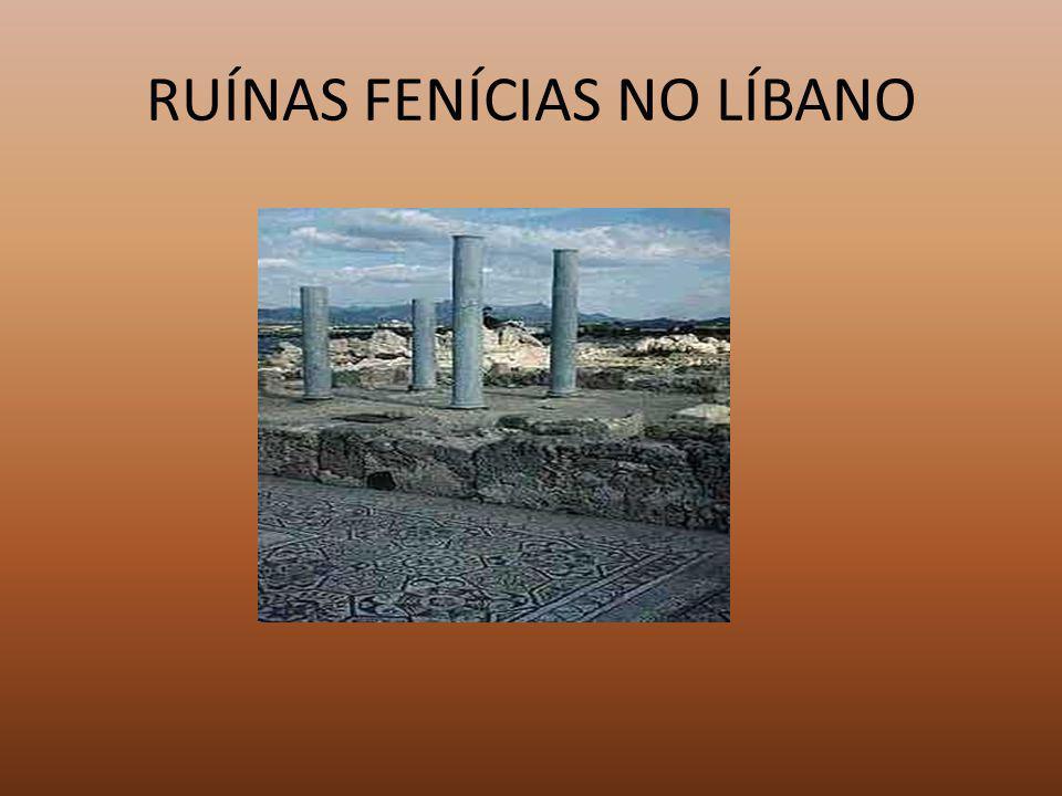 RUÍNAS FENÍCIAS NO LÍBANO