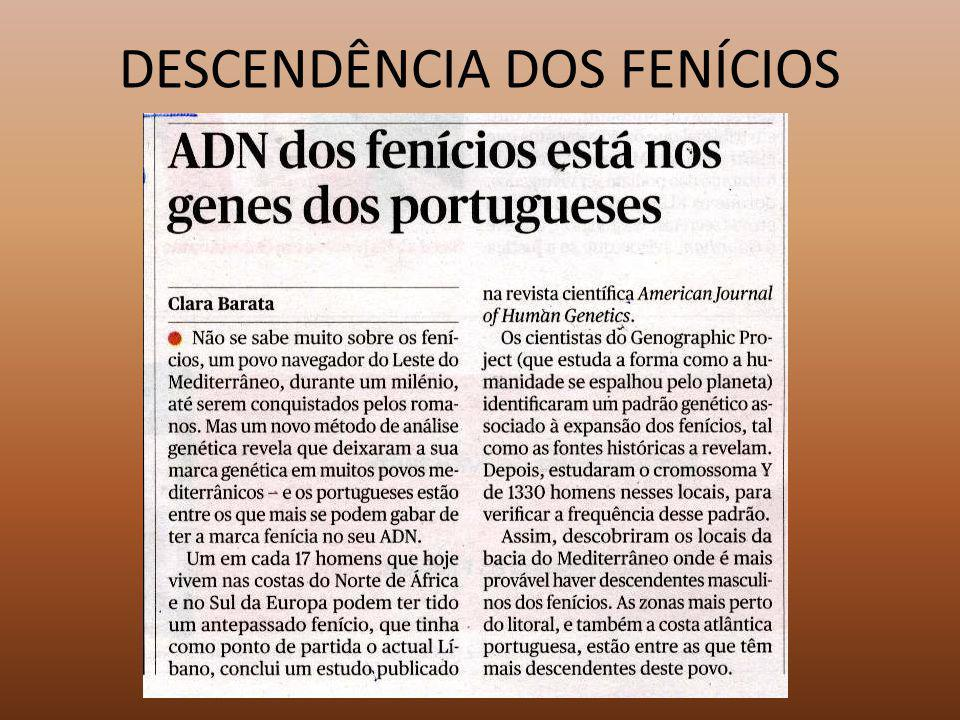 DESCENDÊNCIA DOS FENÍCIOS