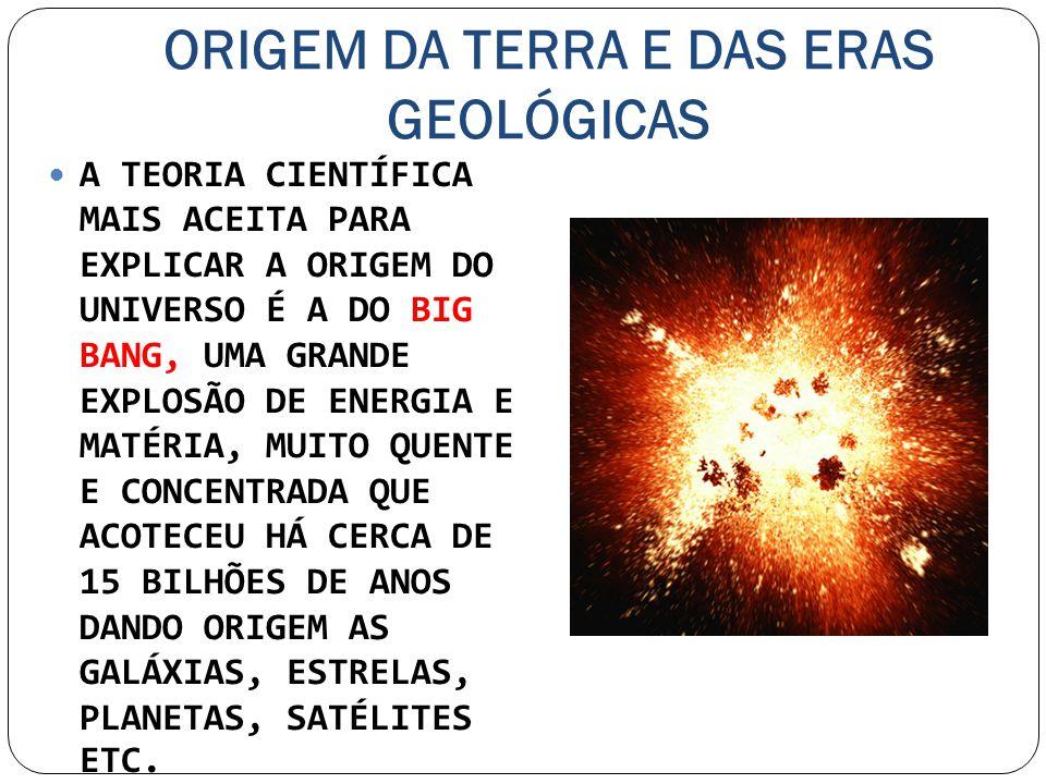 ORIGEM DA TERRA E DAS ERAS GEOLÓGICAS