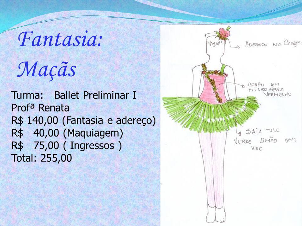 Fantasia: Maçãs Turma: Ballet Preliminar I Profª Renata