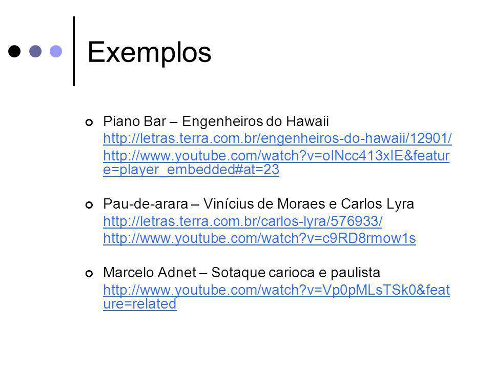 Exemplos Piano Bar – Engenheiros do Hawaii