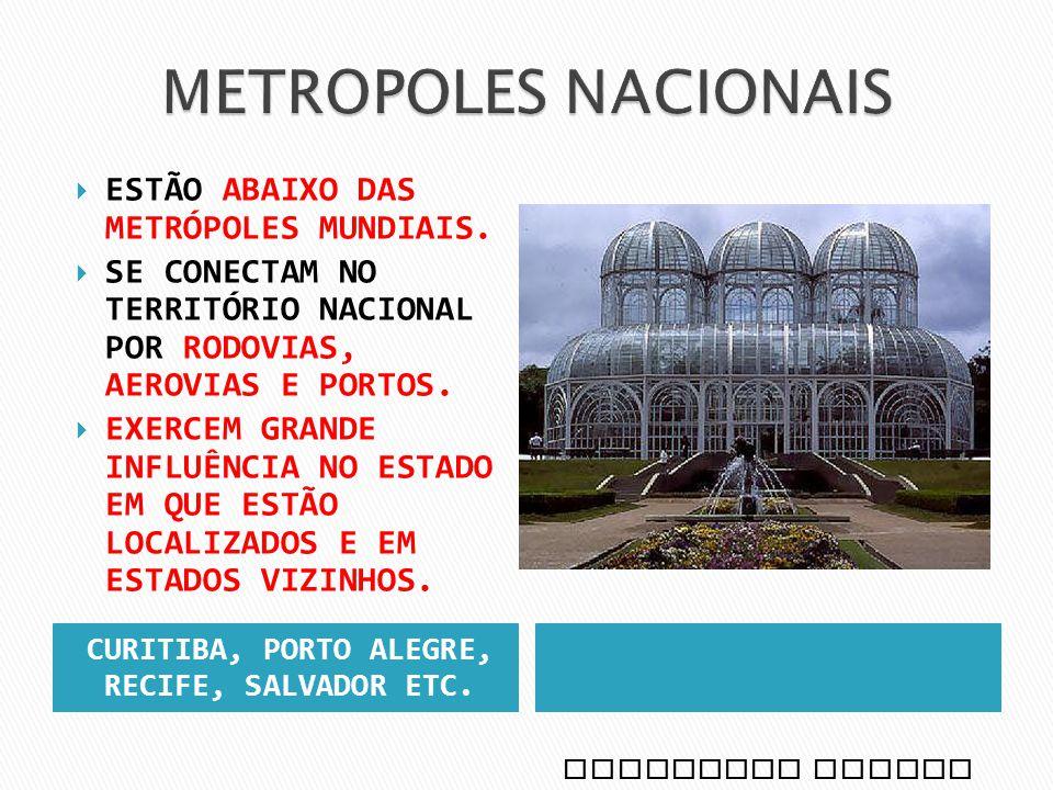 CURITIBA, PORTO ALEGRE, RECIFE, SALVADOR ETC.