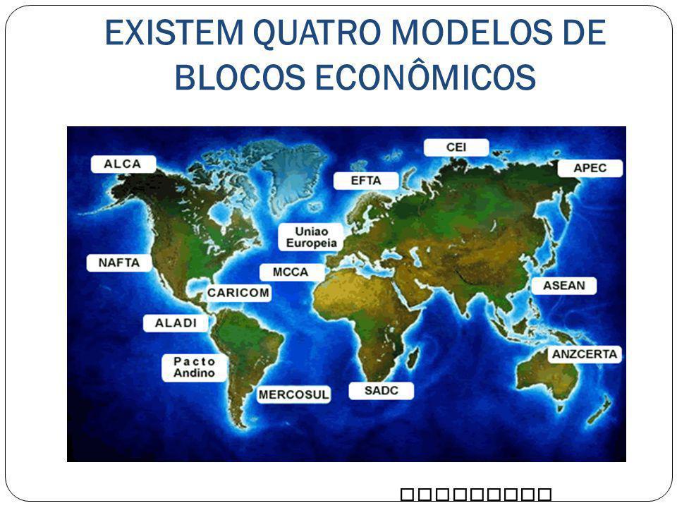 EXISTEM QUATRO MODELOS DE BLOCOS ECONÔMICOS