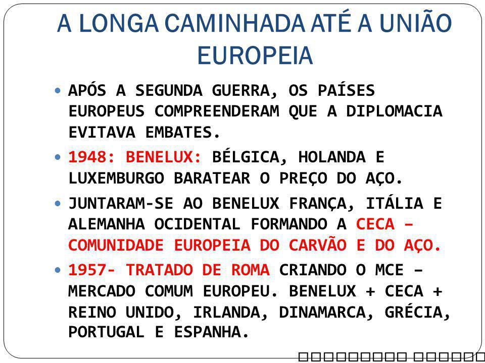 A LONGA CAMINHADA ATÉ A UNIÃO EUROPEIA