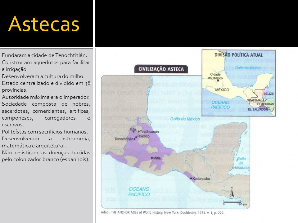 Astecas Fundaram a cidade de Tenochtitlán.