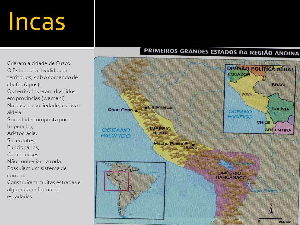 Incas Criaram a cidade de Cuzco.