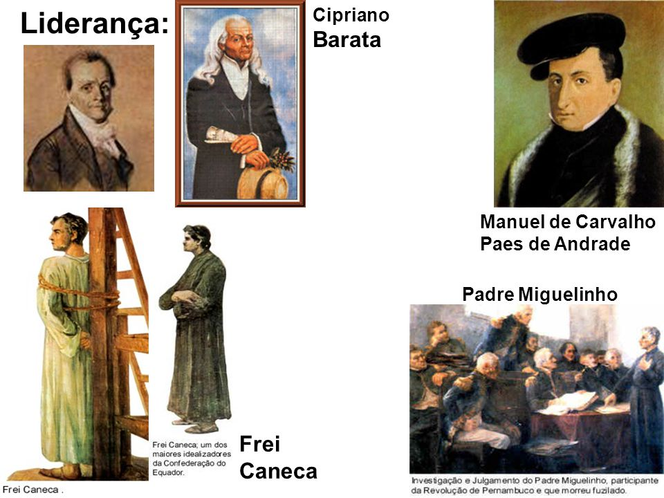 Liderança: Frei Caneca Cipriano Barata
