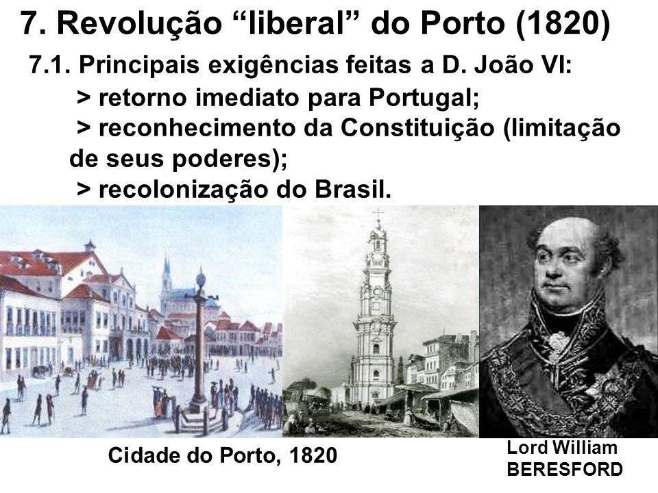 7. Revolução liberal do Porto (1820) 7. 1