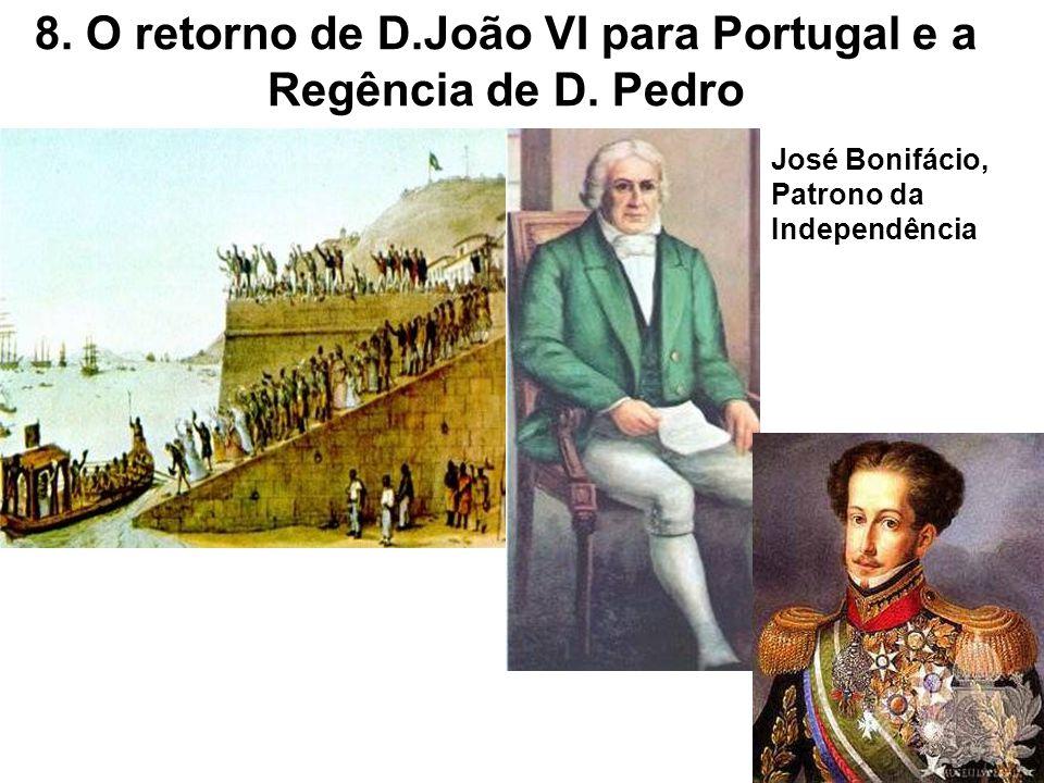 8. O retorno de D.João VI para Portugal e a Regência de D. Pedro