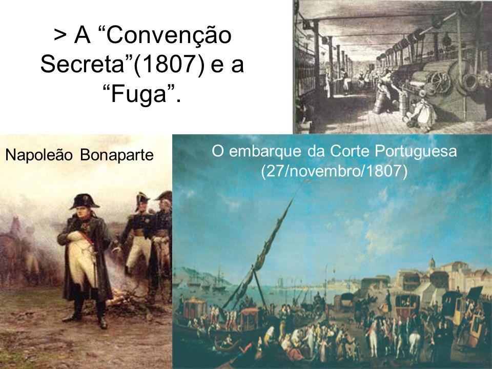 > A Convenção Secreta (1807) e a Fuga .