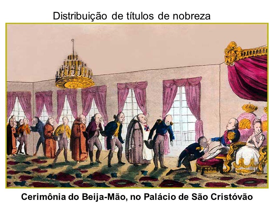 Cerimônia do Beija-Mão, no Palácio de São Cristóvão