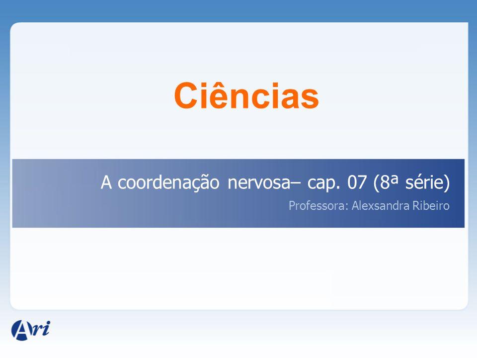 Ciências A coordenação nervosa– cap. 07 (8ª série)