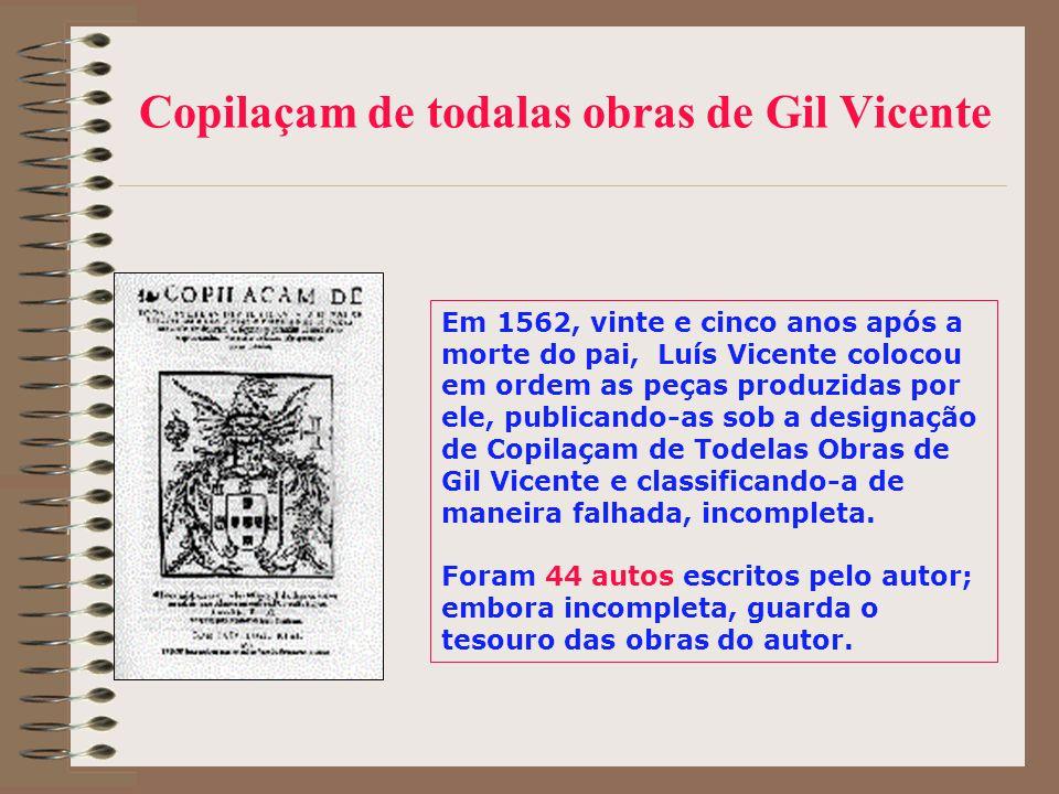 Copilaçam de todalas obras de Gil Vicente