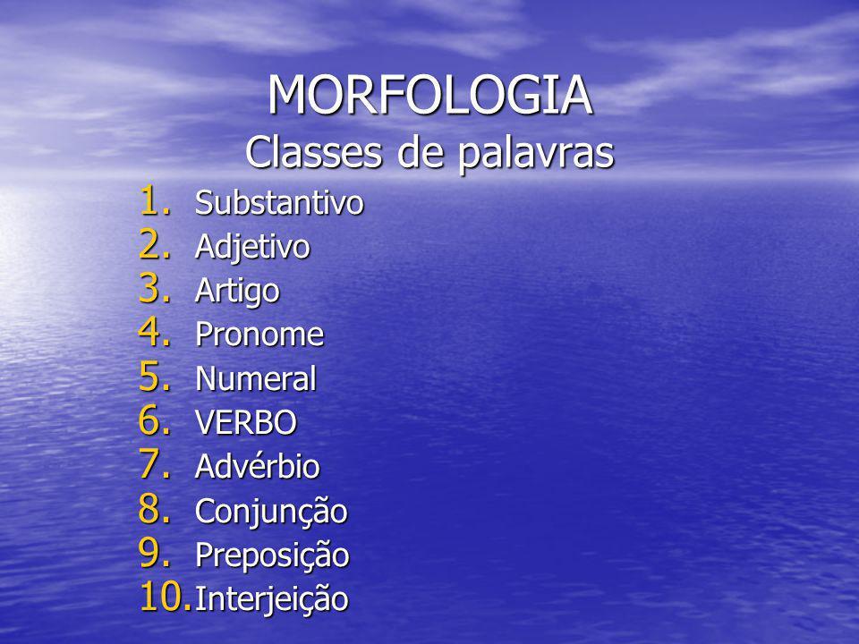 MORFOLOGIA Classes de palavras