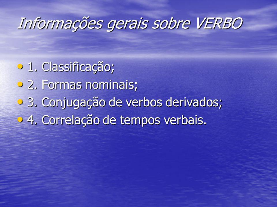Informações gerais sobre VERBO