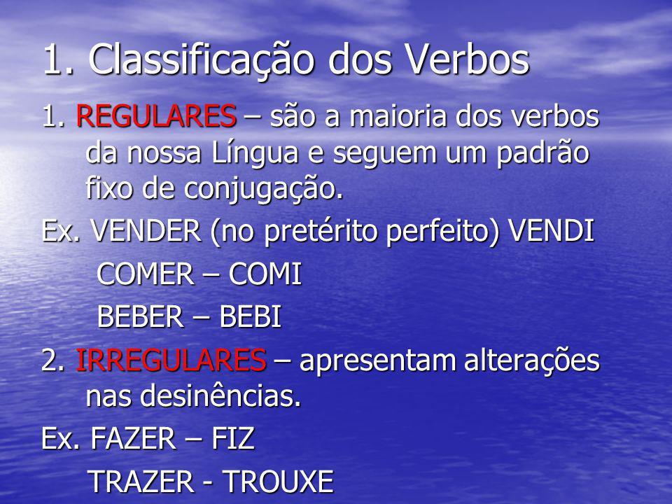 1. Classificação dos Verbos