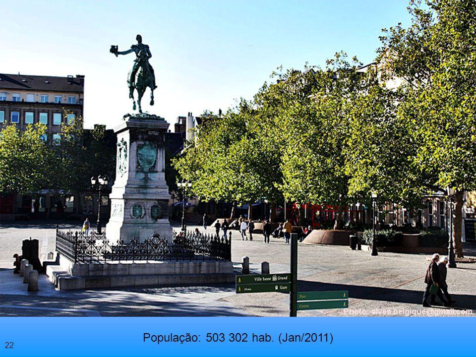 População: 503 302 hab. (Jan/2011) 22