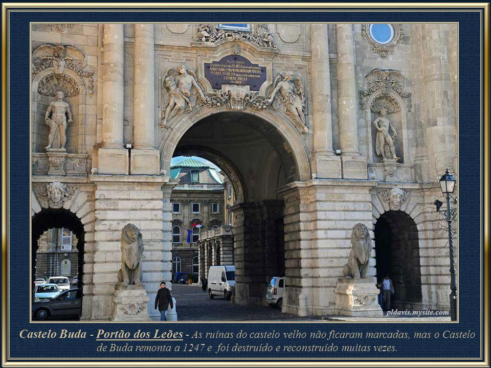 Buda Castle – Lions' Gate - The ruins of the old castle