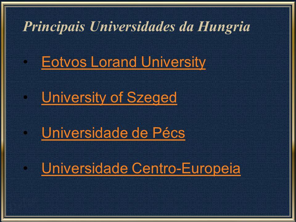 Principais Universidades da Hungria