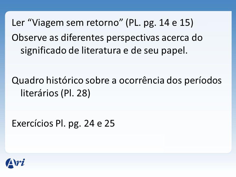Ler Viagem sem retorno (PL. pg
