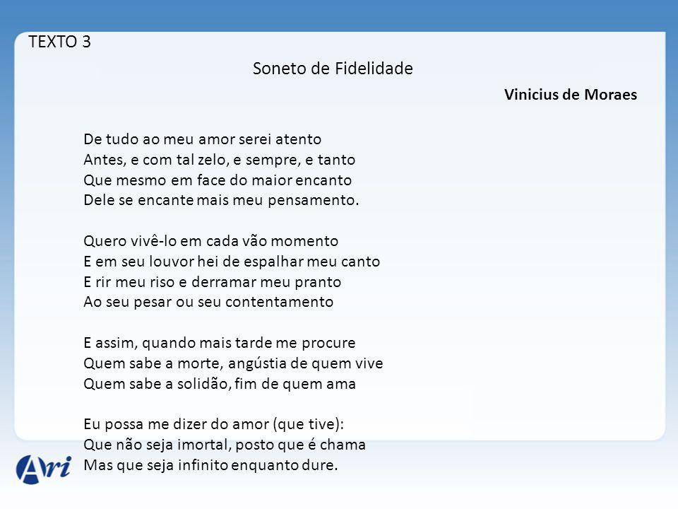 TEXTO 3 Soneto de Fidelidade Vinicius de Moraes
