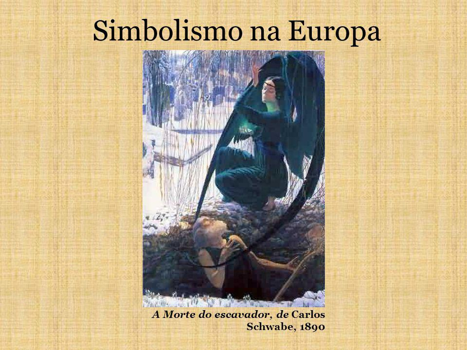 Simbolismo na Europa A Morte do escavador, de Carlos Schwabe, 1890