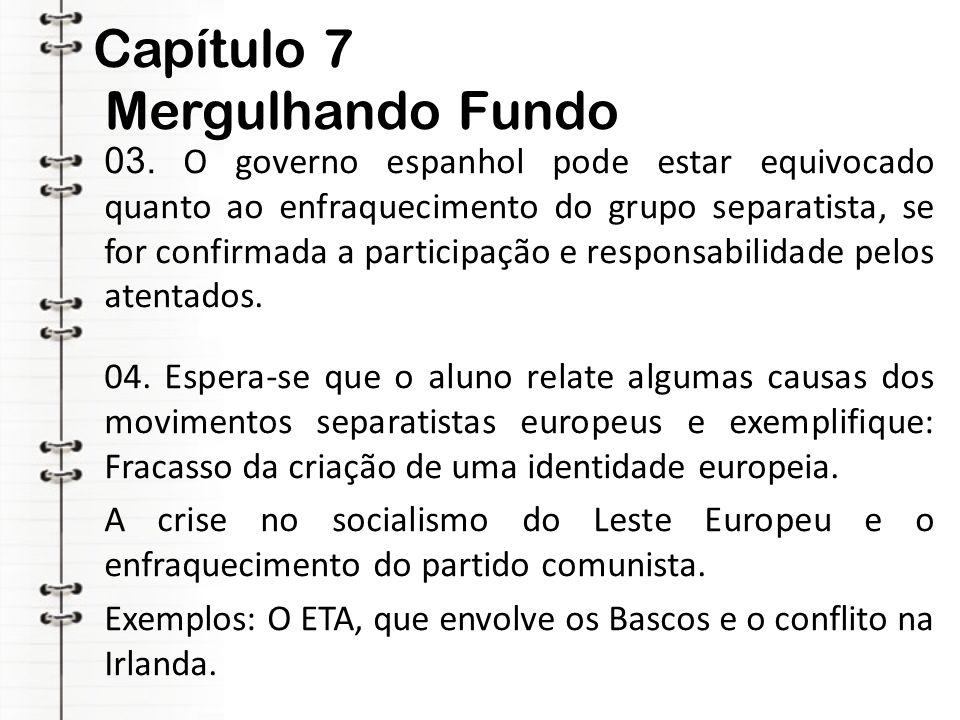 Capítulo 7 Mergulhando Fundo