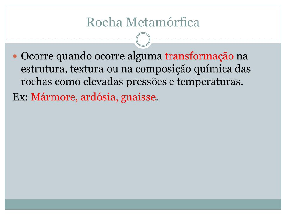 Rocha Metamórfica