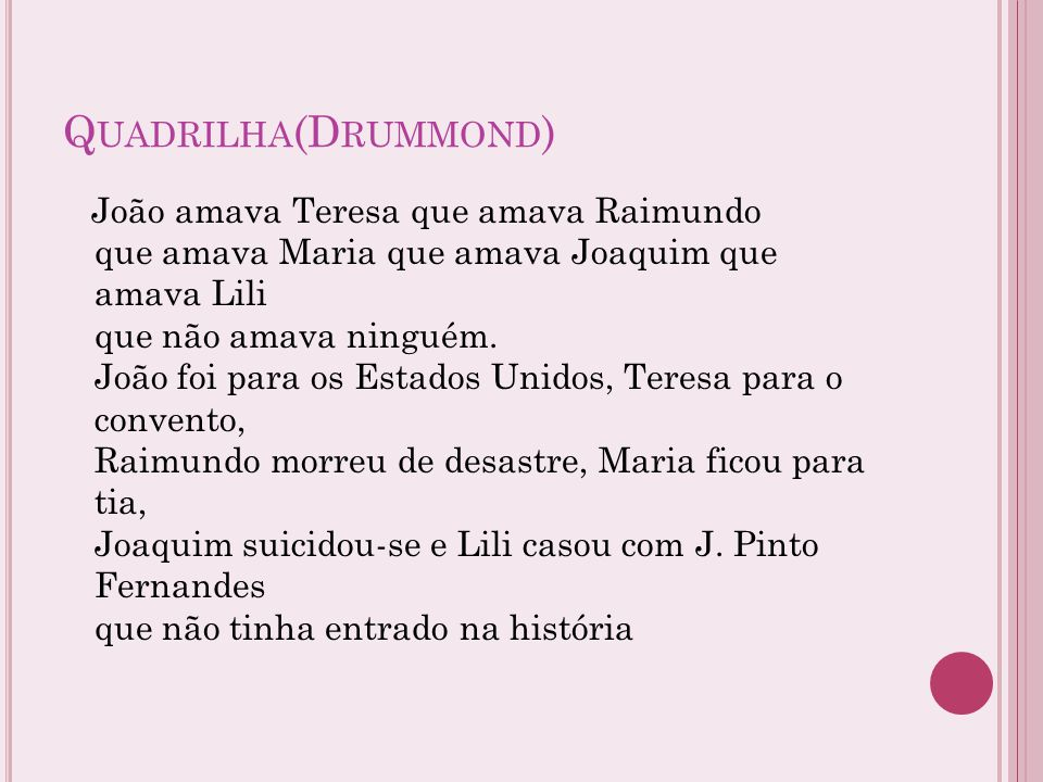 Quadrilha(Drummond)