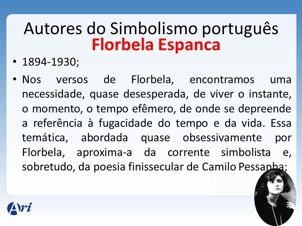Autores do Simbolismo português