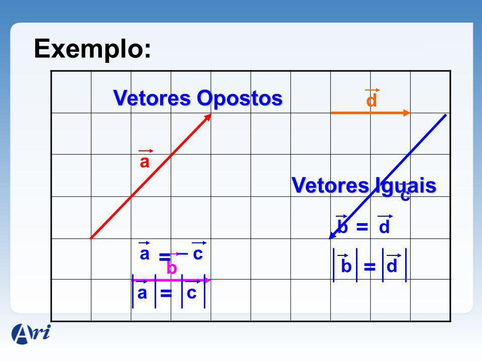 Exemplo: Vetores Opostos Vetores Iguais = = = = d a c b d _ a c b b d