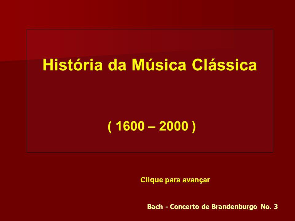 História da Música Clássica Bach - Concerto de Brandenburgo No. 3