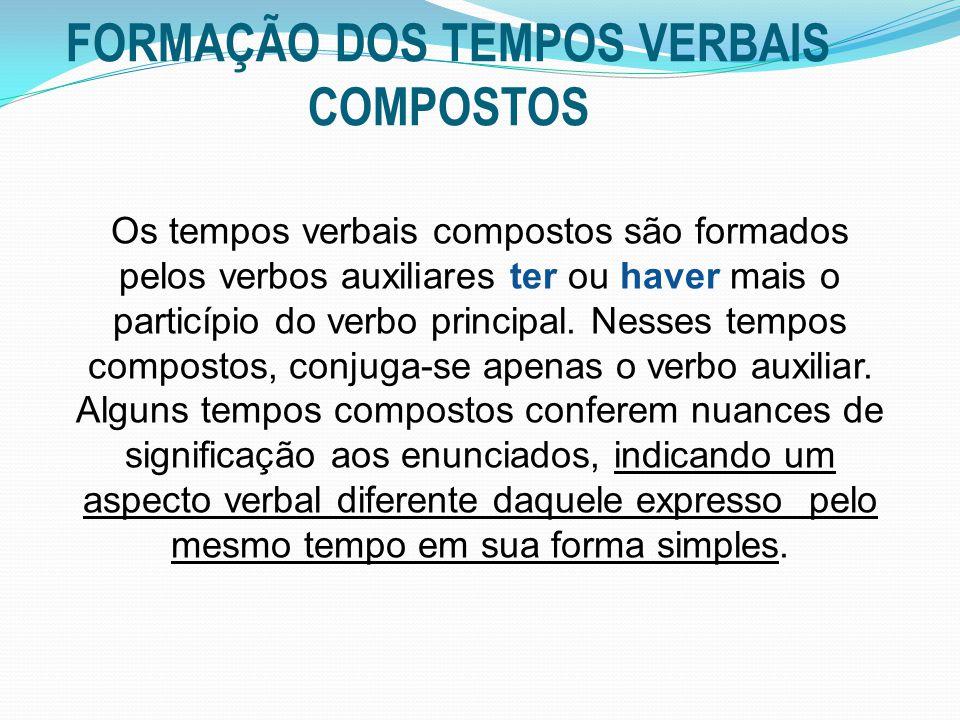 FORMAÇÃO DOS TEMPOS VERBAIS COMPOSTOS