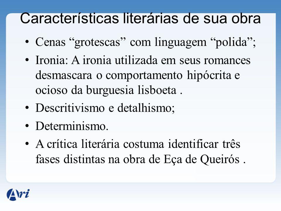 Características literárias de sua obra