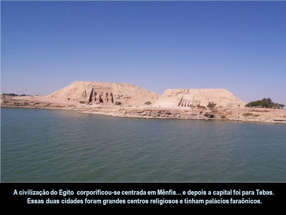 A civilização do Egito corporificou-se centrada em Mênfis
