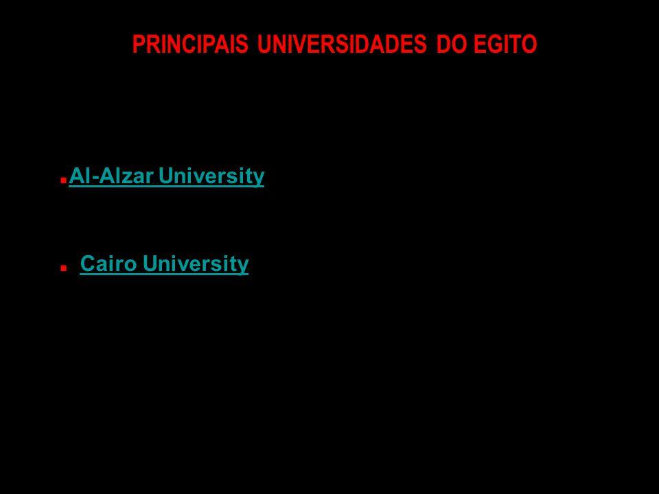 PRINCIPAIS UNIVERSIDADES DO EGITO