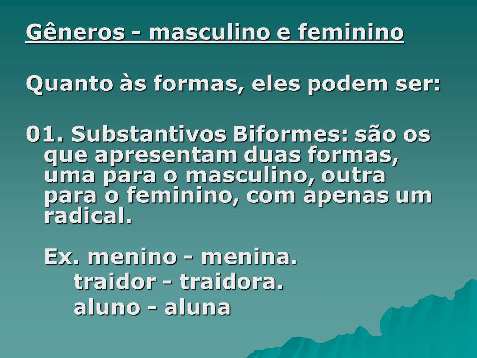 Gêneros - masculino e feminino