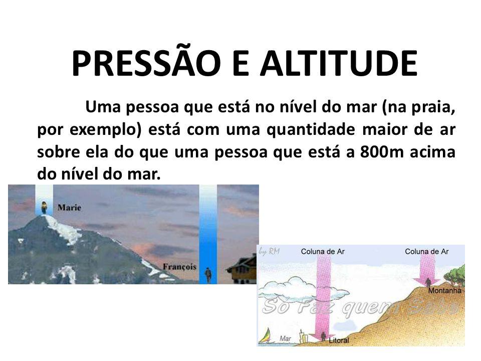 PRESSÃO E ALTITUDE