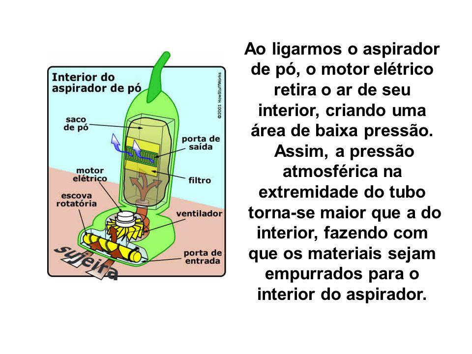 Assim, a pressão atmosférica na extremidade do tubo