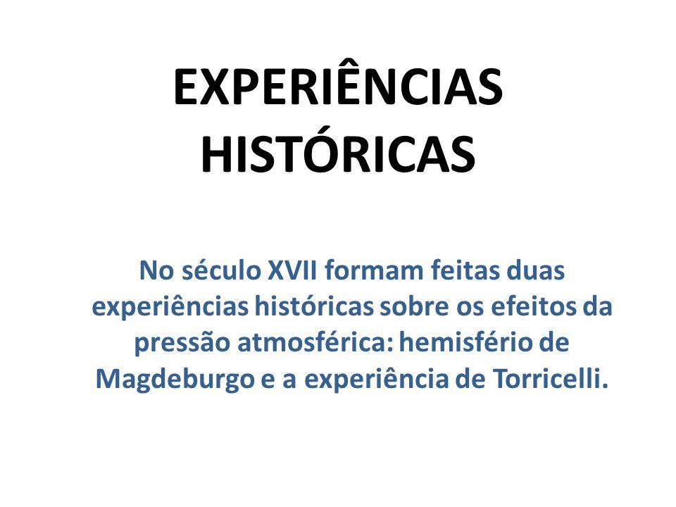 EXPERIÊNCIAS HISTÓRICAS
