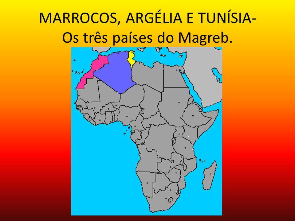 MARROCOS, ARGÉLIA E TUNÍSIA- Os três países do Magreb.