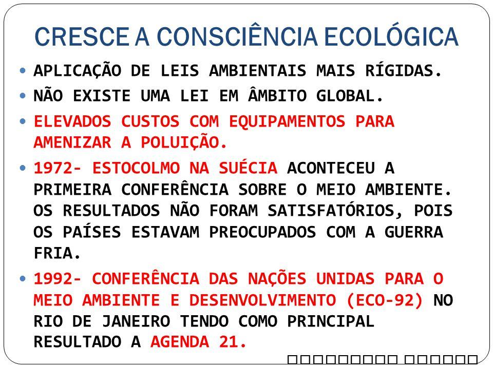 CRESCE A CONSCIÊNCIA ECOLÓGICA