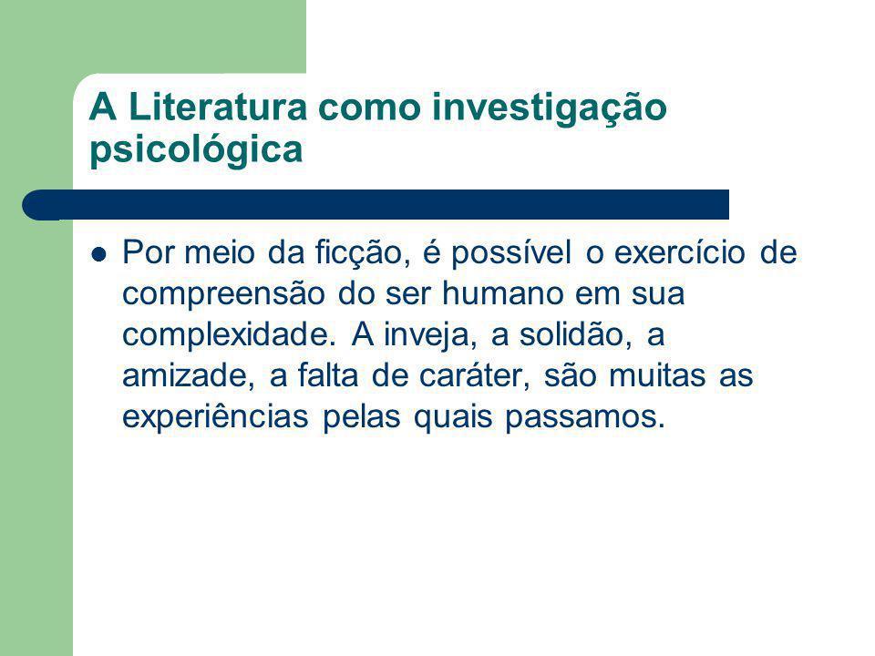 A Literatura como investigação psicológica